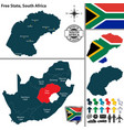 map of free state south africa vector image vector image
