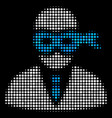 masked thief halftone icon vector image