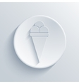 modern light circle icon with shadow vector image vector image