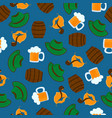 mug beer with foam green hat male beards and vector image vector image
