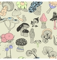 mushrooms2 vector image vector image