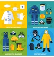 Protective Uniform Equipment vector image vector image