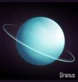 realistic uranus planet isolated vector image vector image