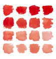 red blots watercolor set vector image