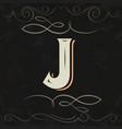 retro style western letter design letter j vector image
