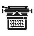 retro typewriter icon simple style vector image