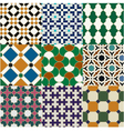 seamless moroccan islamic tile pattern vector image vector image