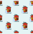 seamless pattern of house in vector image