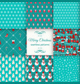 seamless pattern set christmas vector image