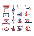 Set color icons of lifting equipment vector image vector image