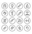 set round line icons of welding vector image vector image