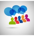 speech dialog people eps vector image vector image