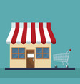 store with shopping cart vector image