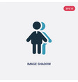 two color image shadow icon from people concept vector image