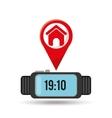watch homepage app social network vector image