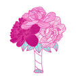 Wedding bouquet made of peonies vector image vector image