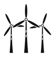 wind turbine farm icon simple style vector image
