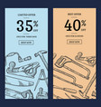 woodwork elements web banner vector image vector image