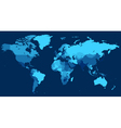 World map with countries on blue background vector image vector image