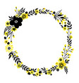 yellow flower wreath vector image