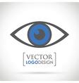 abstract eye icon blue vector image