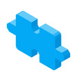 puzzle piece 3d icon isolated vector image