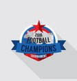 2018 football champions badge vector image vector image
