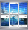 abstract blue background triangle design