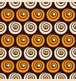 abstract seamless pattern spirals and circles vector image vector image