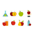 apple icon set flat style vector image vector image