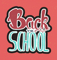 Back To School Lettering vector image