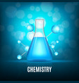background with glass vial vector image
