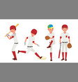baseball player sport action on the vector image