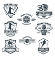 Basketball emblems vector image vector image