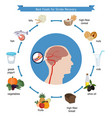 best foods for stroke recovery best foods for vector image vector image