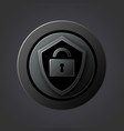 black matte shield icon of the antivirus system vector image vector image
