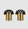 black white and orange stripe pattern sport vector image