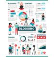 blogging media activity infographics vector image vector image