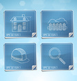 Blueprint Icons Set vector image vector image