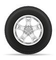 car wheel 03 vector image vector image