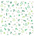 christmas icons seamless pattern with new year vector image vector image