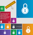 closed lock icon sign buttons Modern interface vector image