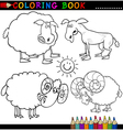 Coloring Book or Page Cartoon of Funn vector image vector image