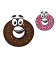 Cute happy doughnuts vector image