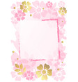 decorative pink background with frame pink and vector image vector image