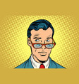 double view a man in glasses vector image vector image