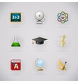 Education pictogram icons set vector image