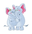 Elephants on a white background Loving couple vector image vector image