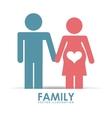 family happy vector image vector image