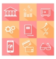 Financial investment bank and business icons vector image vector image